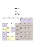 01 2021 schedule