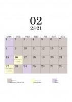 02 2021 schedule