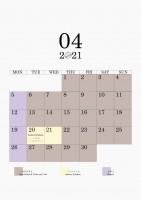 04 2021 schedule