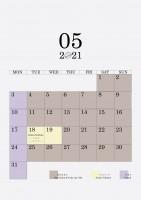 05 2021 schedule